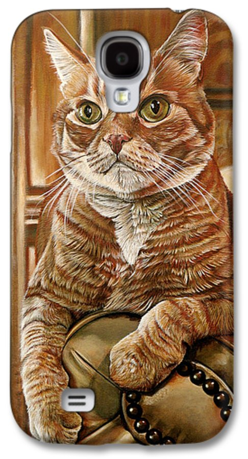 Cat Galaxy S4 Case featuring the painting Furby by Cara Bevan