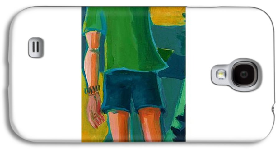 Portrait Galaxy S4 Case featuring the painting Gabrielle by Debra Bretton Robinson