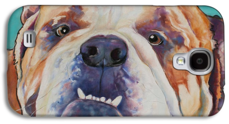 Pat Saunders-white Pet Portraits Galaxy S4 Case featuring the painting Game Face  by Pat Saunders-White
