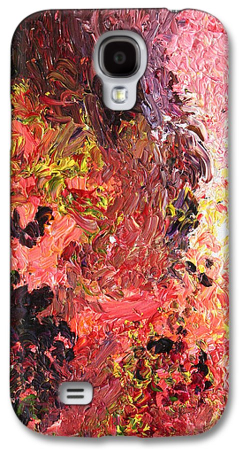 Fusionart Galaxy S4 Case featuring the painting Ganesh In The Garden by Ralph White