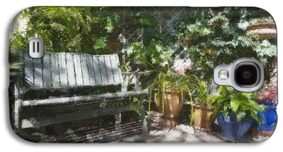 Garden Bench Flowers Impressionism Galaxy S4 Case featuring the photograph Garden Bench by Sheila Smart Fine Art Photography