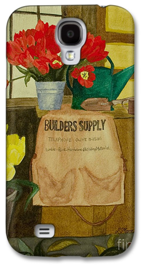 Tulips Galaxy S4 Case featuring the painting Gardner by Louise Magno