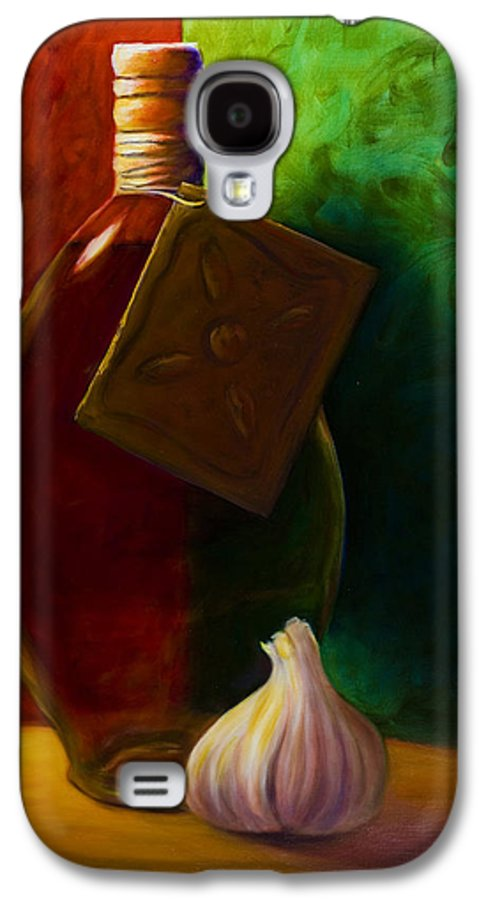 Shannon Grissom Galaxy S4 Case featuring the painting Garlic And Oil by Shannon Grissom