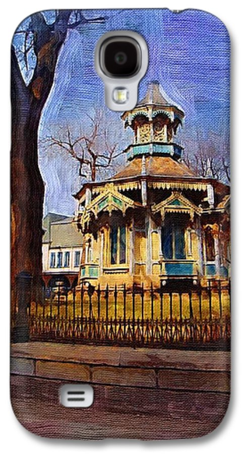 Architecture Galaxy S4 Case featuring the digital art Gazebo And Tree by Anita Burgermeister