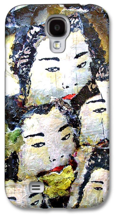 Geisha Girls Galaxy S4 Case featuring the mixed media Geisha Girls by Shelley Jones