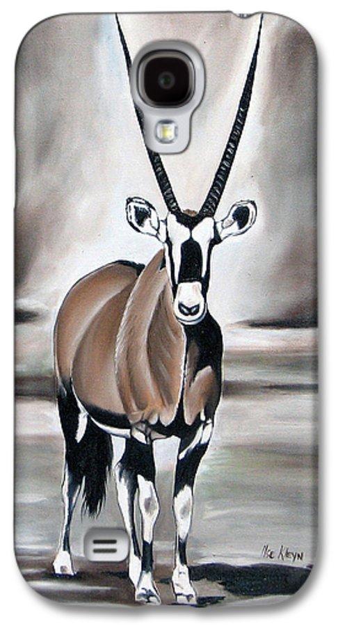Gemsbok Galaxy S4 Case featuring the painting Gemsbok - Solitude by Ilse Kleyn