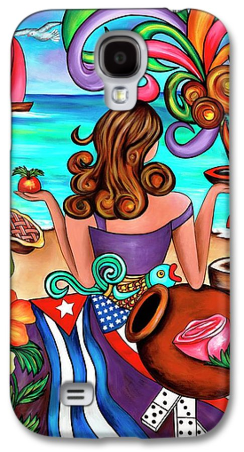 Cuba Galaxy S4 Case featuring the painting Generation Spanglish by Annie Maxwell