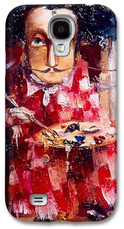 Genius Galaxy S4 Case featuring the painting Genius by Gia Chikvaidze