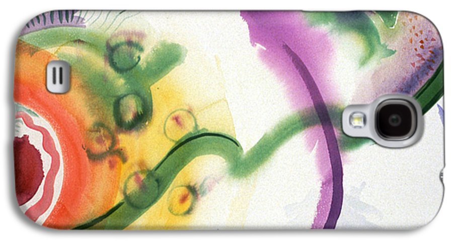 Abstract Galaxy S4 Case featuring the painting Geomantic Blossom Ripening by Eileen Hale