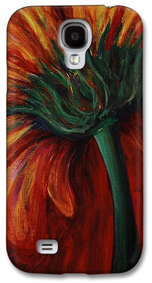 Gerbera Daisy.daisy Galaxy S4 Case featuring the painting Gerbera Daisy by Nadine Rippelmeyer