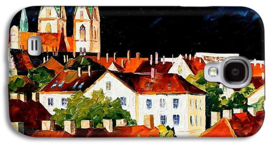 City Galaxy S4 Case featuring the painting Germany - Freiburg by Leonid Afremov