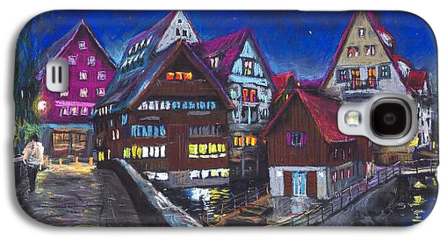 Pastel Galaxy S4 Case featuring the painting Germany Ulm Fischer Viertel by Yuriy Shevchuk