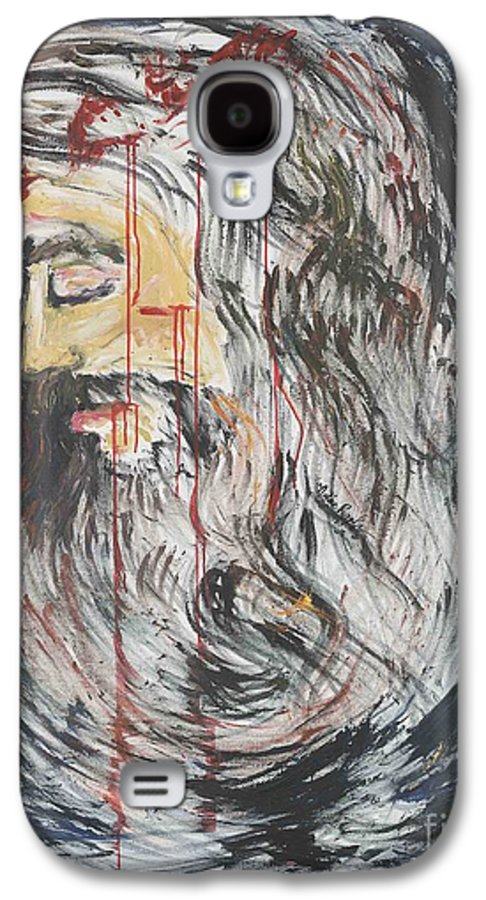 Jesus Galaxy S4 Case featuring the painting Gethsemane To Golgotha IIi by Nadine Rippelmeyer