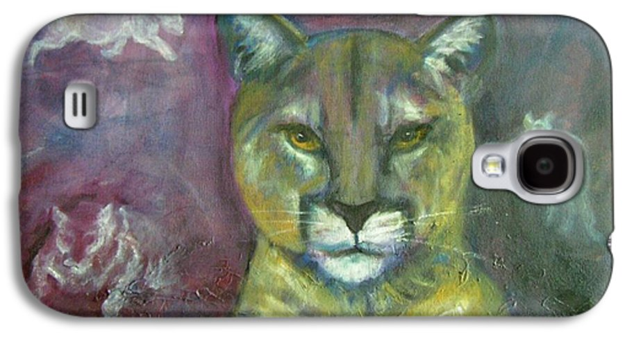 Wildlife Galaxy S4 Case featuring the painting Ghost Cat by Darla Joy Johnson