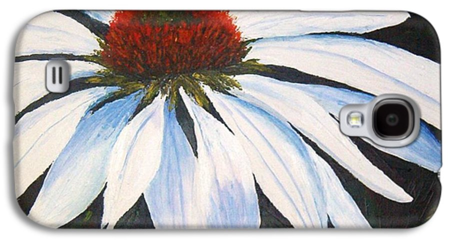 Cone Flowers Galaxy S4 Case featuring the painting Ghost Cone by Tami Booher