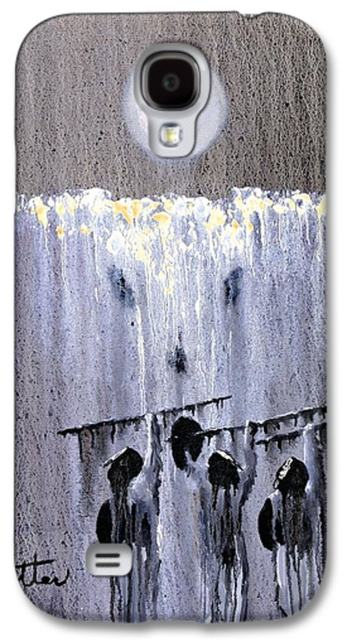 American Indian Galaxy S4 Case featuring the painting Ghost Dance by Patrick Trotter