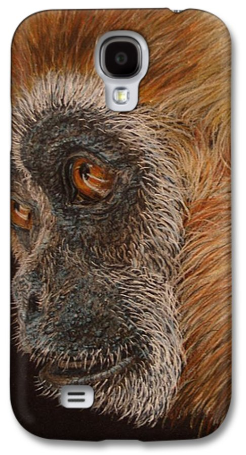 Animals Galaxy S4 Case featuring the drawing Gibbon by Karen Ilari