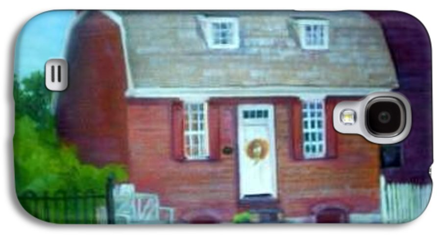 Revell House Galaxy S4 Case featuring the painting Gingerbread House by Sheila Mashaw