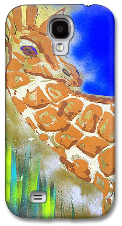 Giraffe Galaxy S4 Case featuring the painting Giraffe by J R Seymour