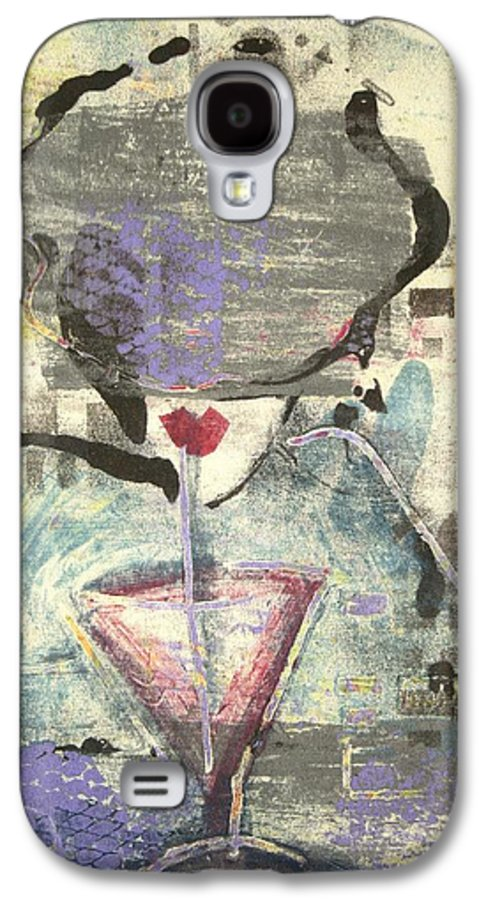Cafe Galaxy S4 Case featuring the painting Girl With Drink by Maryn Crawford