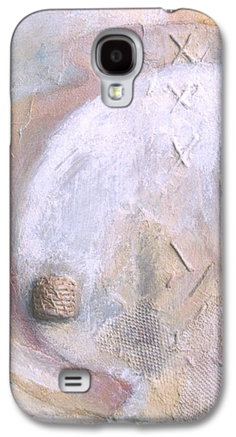 Collage Galaxy S4 Case featuring the painting Give And Receive by Kerryn Madsen-Pietsch