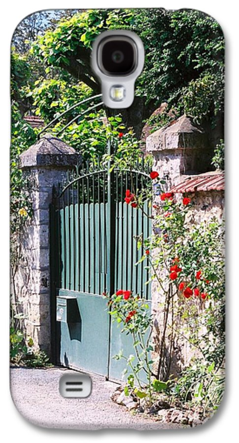 Giverny Galaxy S4 Case featuring the photograph Giverny Gate by Nadine Rippelmeyer
