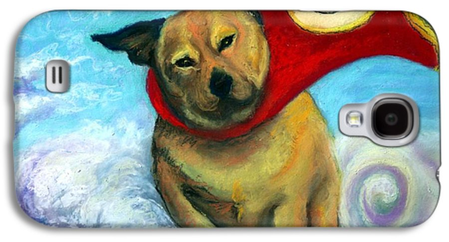Dog Galaxy S4 Case featuring the painting Gizmo The Great by Minaz Jantz