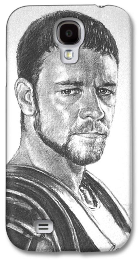 Portraits Galaxy S4 Case featuring the drawing Gladiator by Iliyan Bozhanov