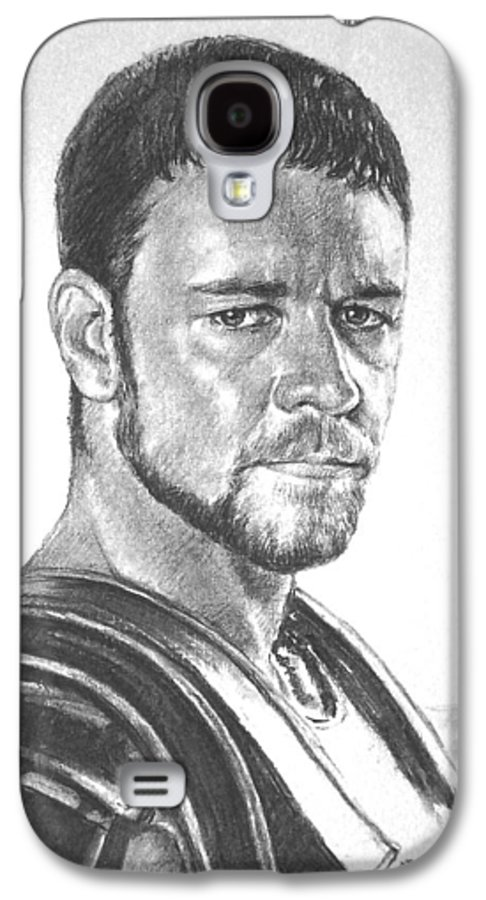 Portraits Galaxy S4 Case featuring the drawing Gladiator by Iliyan Bozhanov