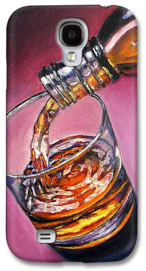 Glass Of Wine Galaxy S4 Case featuring the painting Glass Of Wine Original Oil Painting by Natalja Picugina