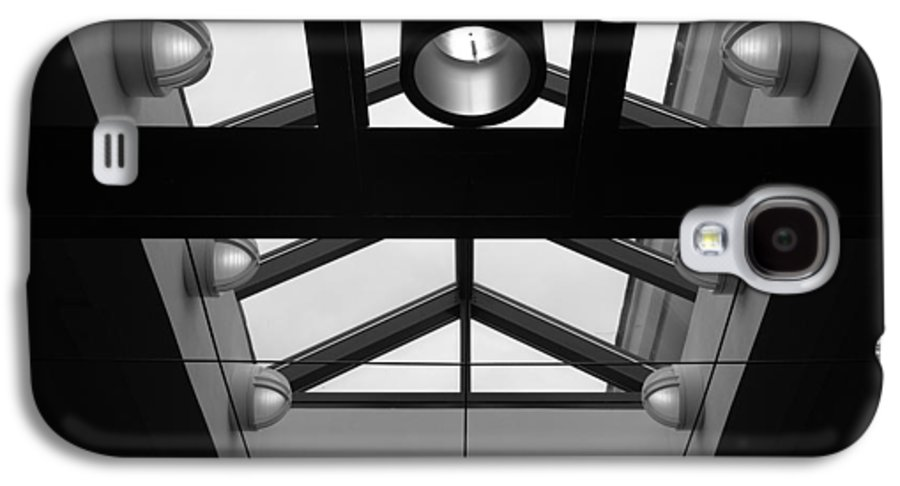 Black And White Galaxy S4 Case featuring the photograph Glass Sky Lights by Rob Hans