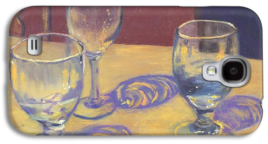 Glasses Galaxy S4 Case featuring the painting Glasslights by Sharon E Allen