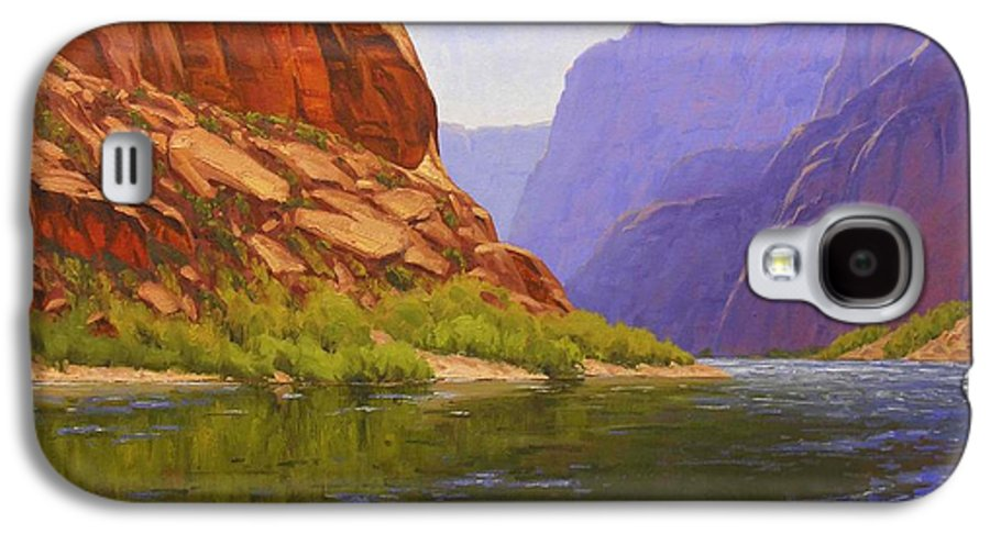 Cody Delong Galaxy S4 Case featuring the painting Glen Canyon Morning by Cody DeLong