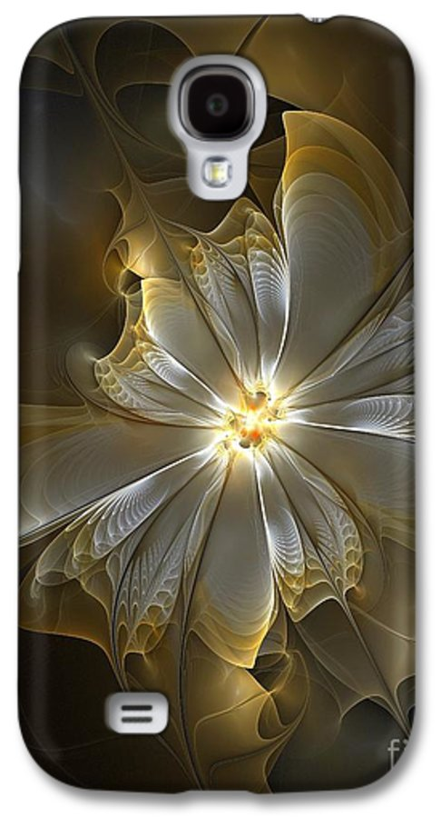 Digital Art Galaxy S4 Case featuring the digital art Glowing In Silver And Gold by Amanda Moore