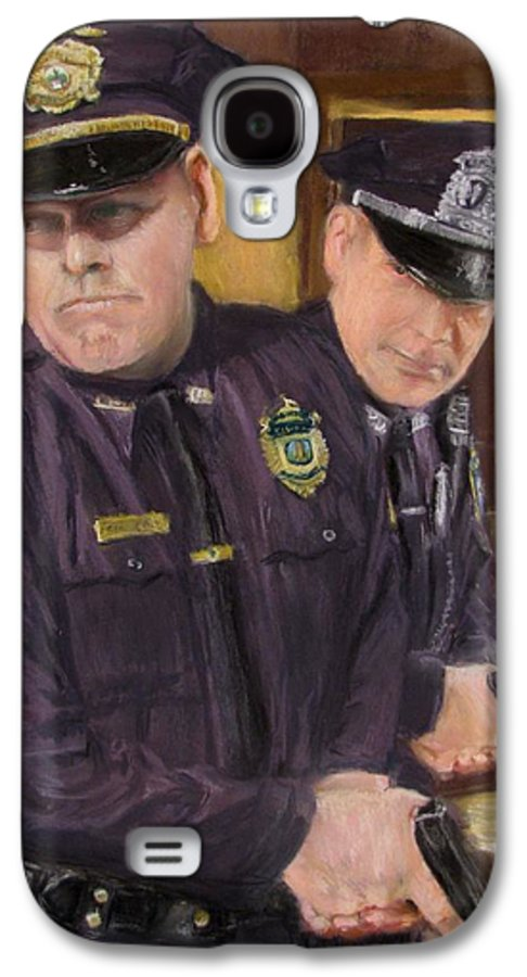 Law Enforcement Galaxy S4 Case featuring the painting Go On Three...1....2.... by Jack Skinner