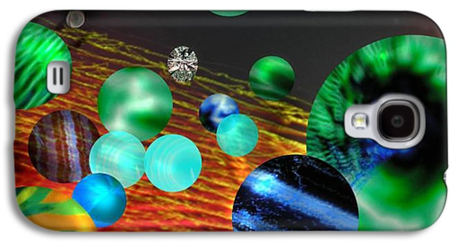 A Tribute To Donovan And His Song cosmic Wheels. A Line In The Song...god Is Playing Marbles With Galaxy S4 Case featuring the digital art God Playing Marbles Tribute To Donovan by Seth Weaver
