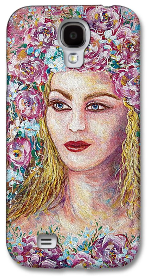 Goddess Of Good Fortune Galaxy S4 Case featuring the painting Goddess Of Good Fortune by Natalie Holland