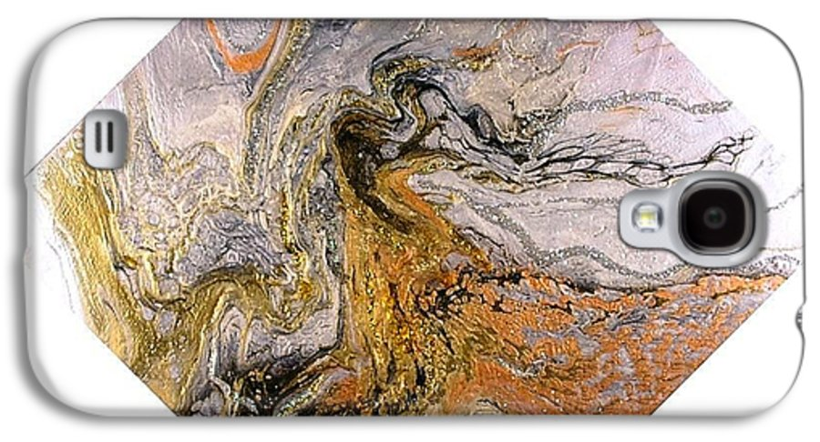 Abstract Galaxy S4 Case featuring the painting Goddess by Patrick Mock