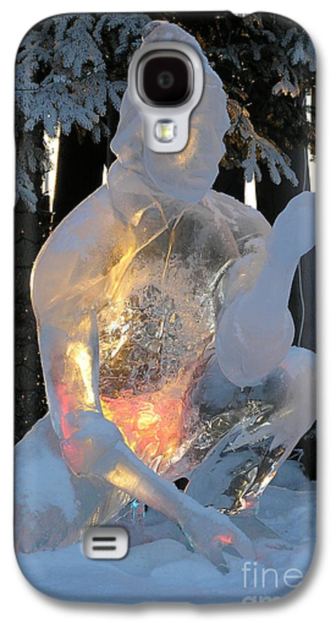 Ice Sculpture Galaxy S4 Case featuring the photograph Gold Miner by Louise Magno