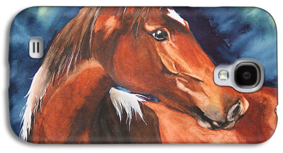 Horse Galaxy S4 Case featuring the painting Golden Boy by Jean Blackmer