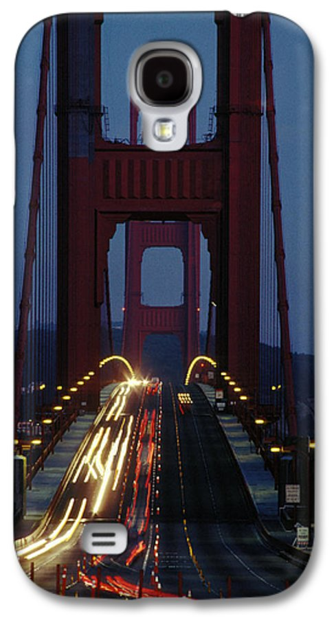 Evening Galaxy S4 Case featuring the photograph Golden Gate Bridge by Carl Purcell