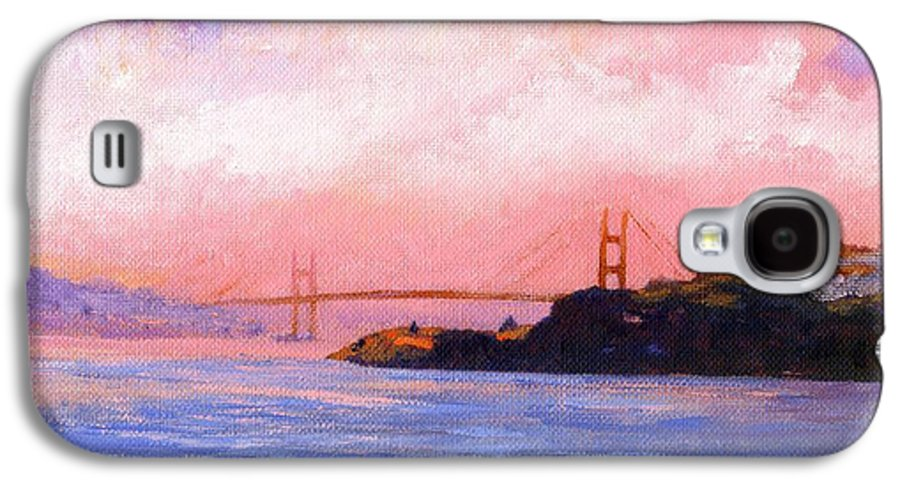 Landscape Galaxy S4 Case featuring the painting Golden Gate Bridge by Frank Wilson
