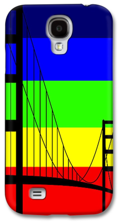 Golden Gate Galaxy S4 Case featuring the digital art Golden Gay by Asbjorn Lonvig