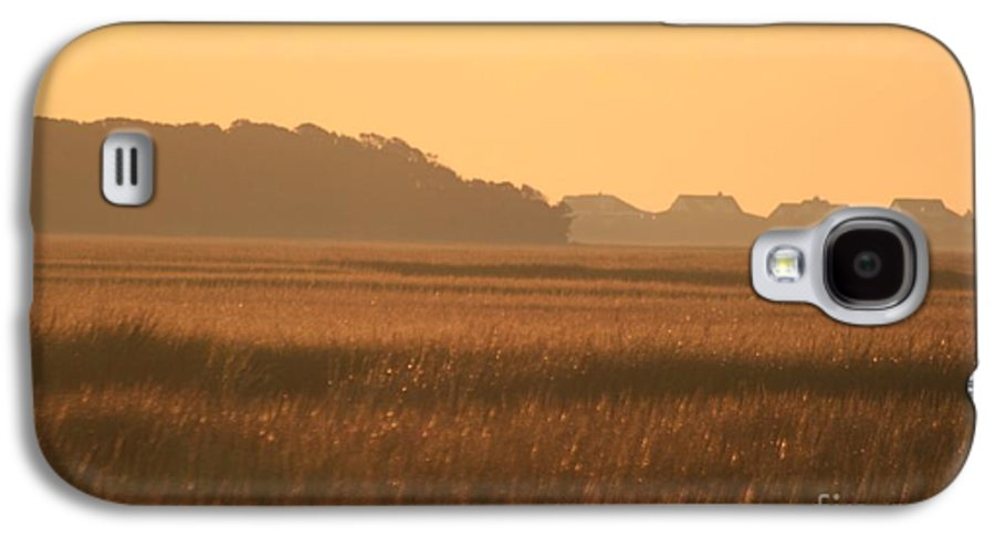 Marsh Galaxy S4 Case featuring the photograph Golden Marshes by Nadine Rippelmeyer