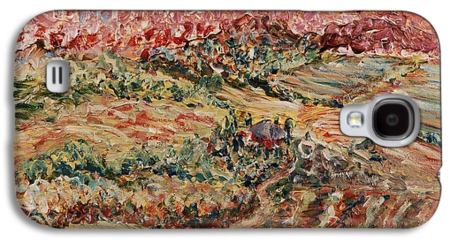 Provence Galaxy S4 Case featuring the painting Golden Provence by Nadine Rippelmeyer
