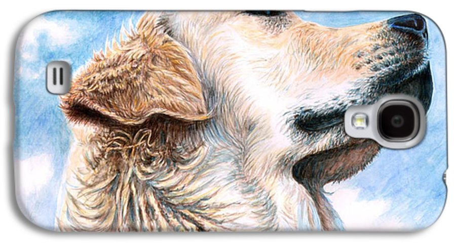 Dog Galaxy S4 Case featuring the painting Golden Retriever by Nicole Zeug