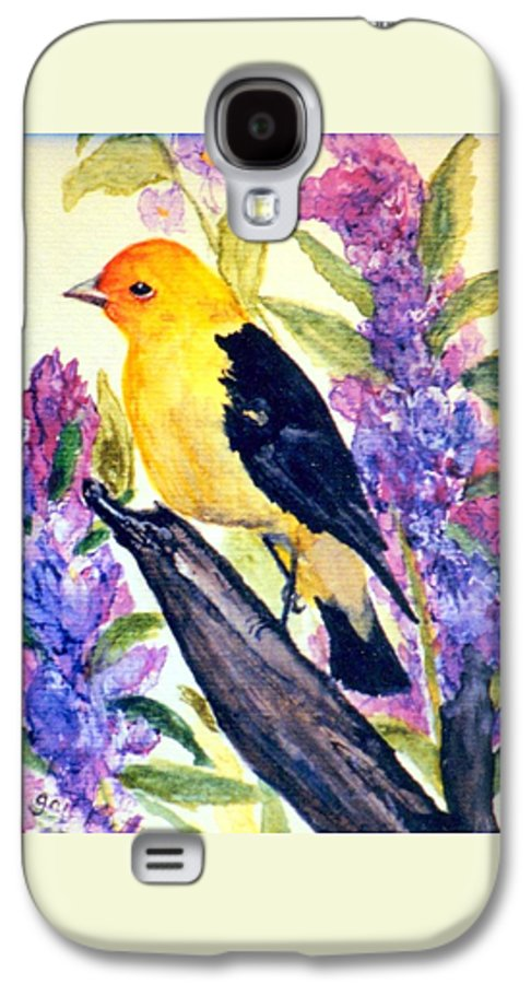 Birds Galaxy S4 Case featuring the painting Goldfinch by Gail Kirtz