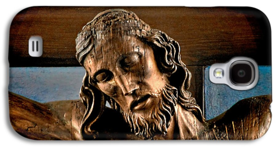 Easter Galaxy S4 Case featuring the photograph Good Friday Jesus On The Cross by Christine Till