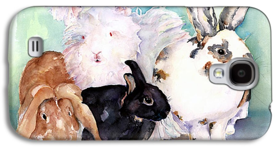 Animal Artwork Galaxy S4 Case featuring the painting Good Hare Day by Pat Saunders-White