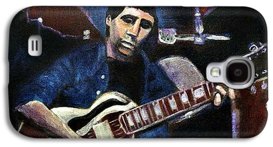 Shining Guitar Galaxy S4 Case featuring the painting Graceland Tribute To Paul Simon by Seth Weaver